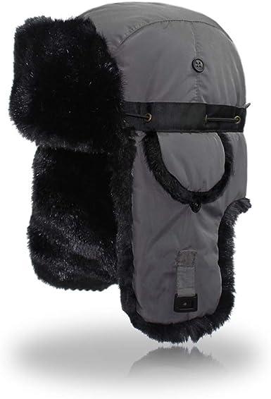 Outfly Ushanka Trapper Rusia Caza de sombrero de piel sint/ética Cap Earflap Invierno