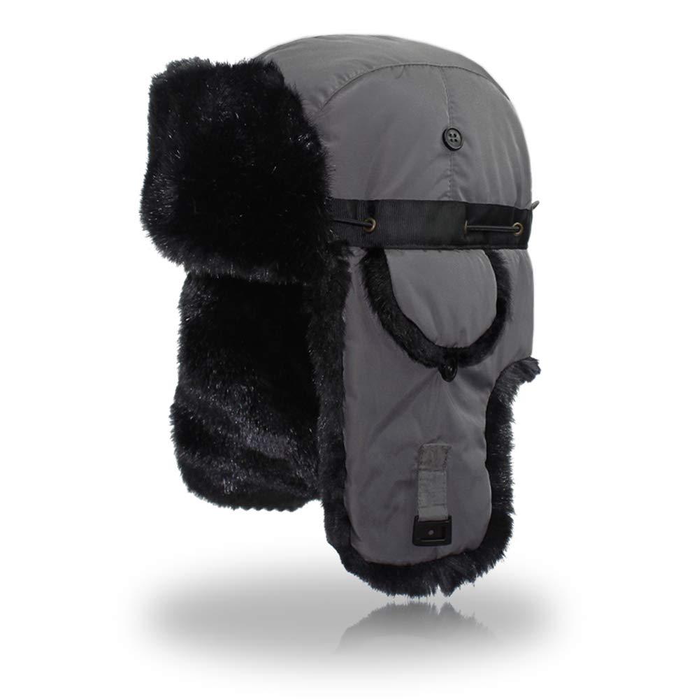 Outfly Ushanka Trapper Russia Cappello da Caccia in Pelliccia Sintetica Earflap Winter Arancio B15005-O
