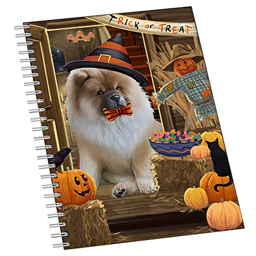 Enter at Own Risk Trick or Treat Halloween Chow Chow Dog Notebook NTB51926]()