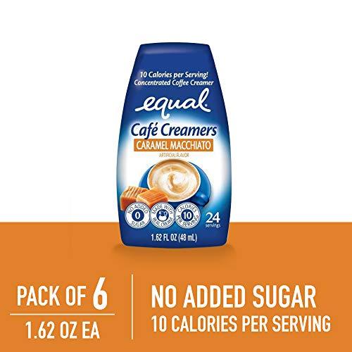 EQUAL Café Coffee Creamers Caramel Macchiato, Low-Calorie Coffee Creamer, 1.62 Ounce (Pack of - Cafe Creamer