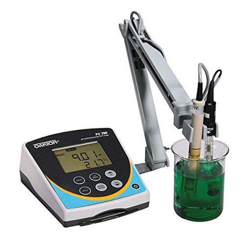 Oakton Instruments WD-35413-00 Series pH/CON 700 Benchtop Meter with pH Electrode, Conductivity/Temperature Probe and Electrode Stand, 110/220 VAC ()