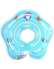 Dewanxin Flotador de Bebé, Flotador Engrosada Ajustable de Cuello para Bebes de 6-36