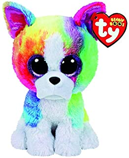 TY Beanie Boo Large Isla the Rainbow Bulldog Soft Toy (Claires Exclusive)
