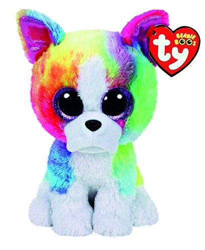 Amazon.com  TY Beanie Boo Large Isla the Rainbow Bulldog Soft Toy ... 2d3c1a7cebf