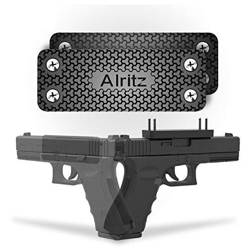 Magnet Gun Mount for Car, 42 Lbs Rubber Coated Magnetic Gun Holster Concealed Firearms Holder for Pistol, Air Gun, Revolver, Handgun, Shotgun, Rifle (2 Pack)