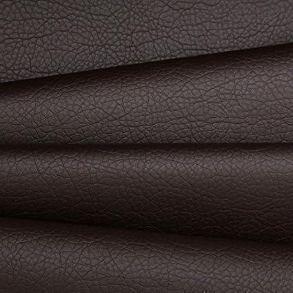 Tela para tapicería cuero de imitación marrón con textura sofás