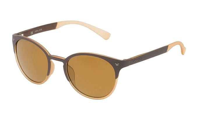 Police SPL162M507ESG Gafas de sol, Marrón, 50 Unisex: Amazon ...