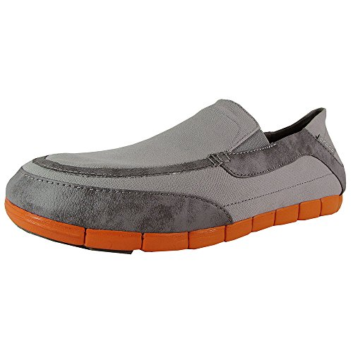 Crocs Heren Stretchzool Torino Loafer Licht Grijs / Oranje