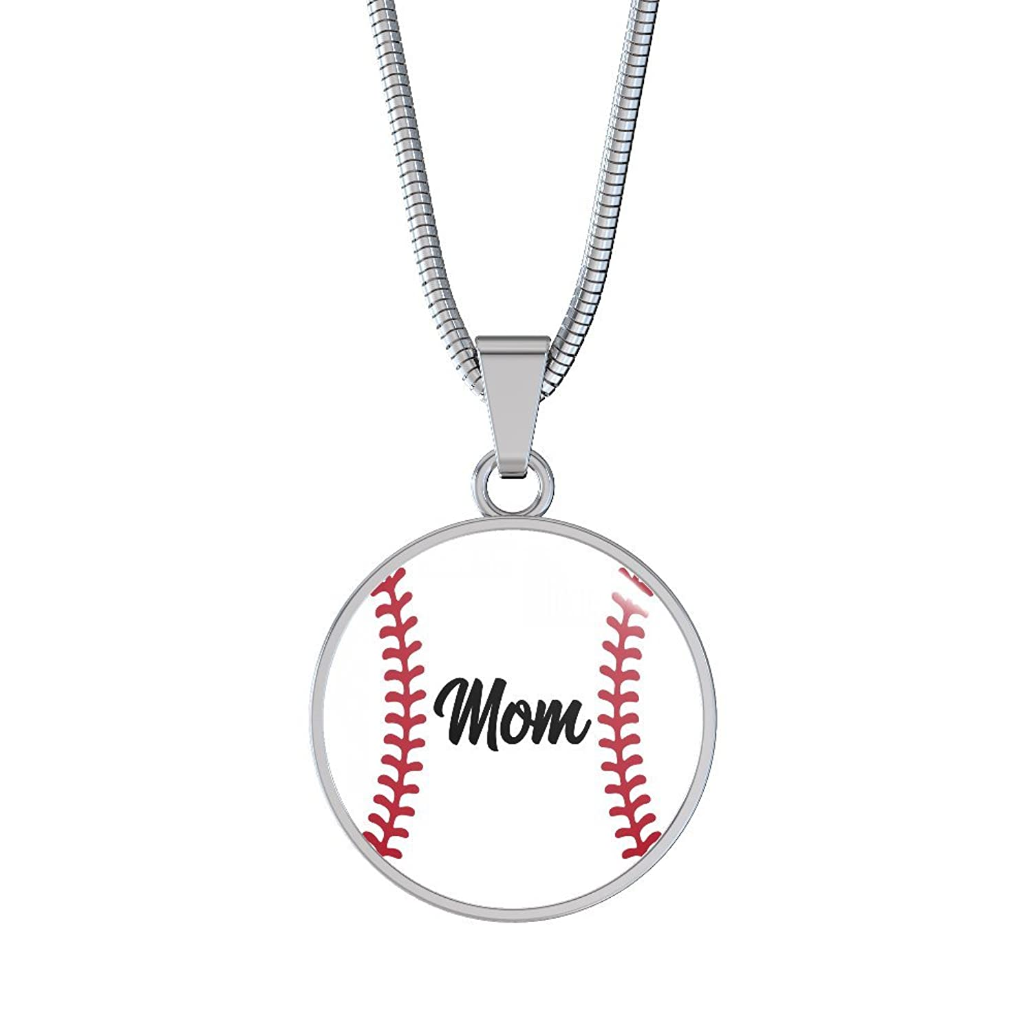 necklace the baseball product leather co flatbill pendant