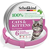Flea Collar - Tick Collar for Cats - Made for Germany - 100% Safe & Eco-Friendly - Based on Natural Oils - Flea and Tick Prevention Pets - 6-Month Protection - Waterproof Cat Flea Collar (Pink)