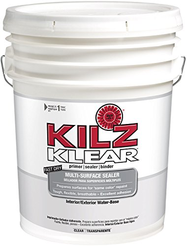 KILZ Klear Multi-Surface Stain Blocking Interior/Exterior Latex Primer/Sealer, Clear, 5 -