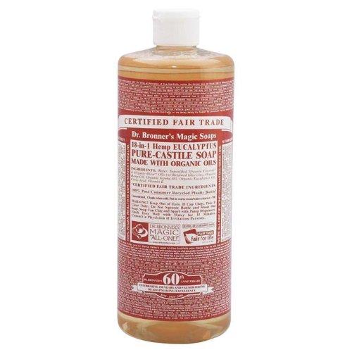 Д-р Броннера Кастилия жидкого мыла Pure-мыло Кастилии, 18-в-1 конопли эвкалипт, 32-унция
