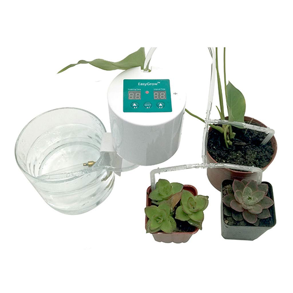 Plant Waterer Timer Self Water/Auto Watering Devices, Portable Vacation Potted Plant Watering Irrigation Water Stakes System with Control Valve Switch for Garden Plants Indoor & Outdoor