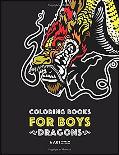 Coloring Books For Boys: Dragons: Advanced Coloring Pages for ...