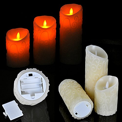 3pcs/lot 3 Size Led Swing Candle Light Scented Candles Decorative Home For Birthday Party