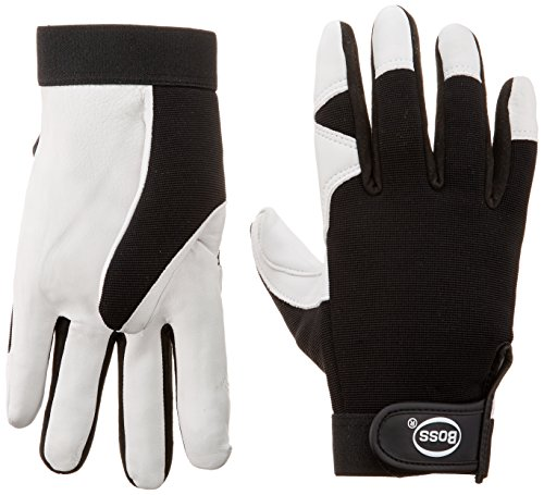 Boss Gloves 4047X Guard White Goatskin Palm Glove, X-Large