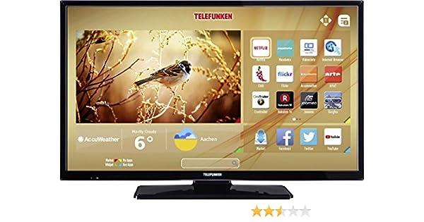 Telefunken LED-TV 81 cm 32 Zoll B32F545B EEK A+ DVB-T2, DVB-C, DVB-S, Full HD, Smart TV, WLAN, CI+: Amazon.es: Electrónica