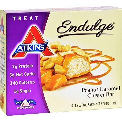 Atkins Endulge Bar Peanut Caramel Cluster 1.2 Ounce Each 5 Bars Per Pack (Pack of (Endulge Bar Peanut)