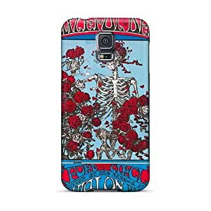 NataliaKrause Samsung Galaxy S5 Protective Hard Phone Case Provide Private Custom Colorful Grateful Dead Band Image [bHE16948rhWc]