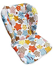 High Chair Pad, Amcho Baby Stroller/Highchair/Car Seat Cushion Protective Film Breathable Pad (Colored stars pattern)