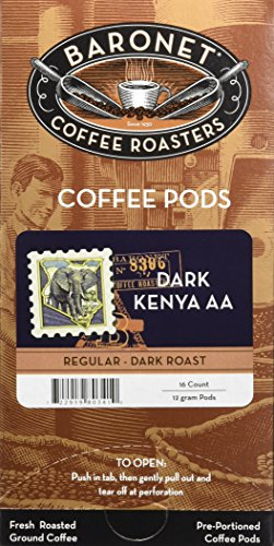 Baronet Coffee French Roast Kenya Aa Mega Coffee Pods, 48 -