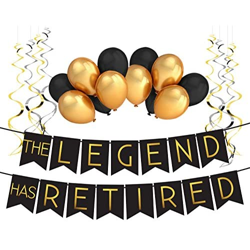 """""""The Legend Has Retired"""" Retirement Decoration Pack - Retirement Party Supplies, Gifts and Decorations by Sterling James Company"""