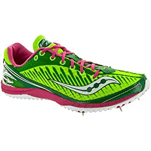 Saucony Women's Kilkenny XC5 Spike Cross-Country Shoe,Green/Pink,10 M US