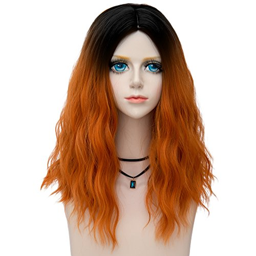 Probeauty Fairy Collection Ombre Dark Root 45CM Long Curly Women Lolita Anime Cosplay Wig