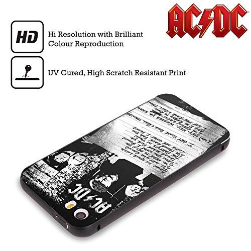 Officiel AC/DC ACDC A Obtenu Un Certain Tonnerre De Rock 'n' Roll Paroles Noir Étui Coque Aluminium Bumper Slider pour Apple iPhone 5 / 5s / SE