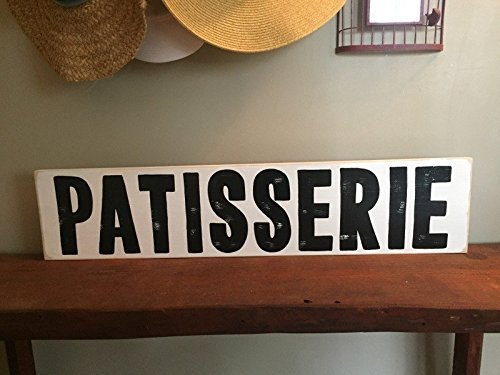 PATISSERIE Pastry Sweets Bakery Sign Plaque Wooden YOU Pick Color HP FREE SHIPPING