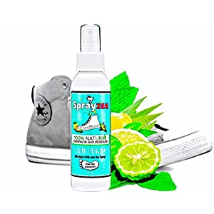 #1 Rated Natural Shoe Deodorizer & Foot Odor Eliminator Spray - INSTANTLY Remove Shoe Odor with 8 Powerful Oils (Peppermint, Tea Tree, Eucalyptus+) Best Shoe Deodorant for Stinky Shoes and Smelly Feet