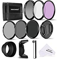 Neewer 62MM Professional UV CPL FLD Lens Filter and ND Neutral Density Filter(ND2, ND4, ND8) Accessory Kit for Pentax (K-30 K-50 K-5 K-5) and Sony Alpha A99 A77 A65