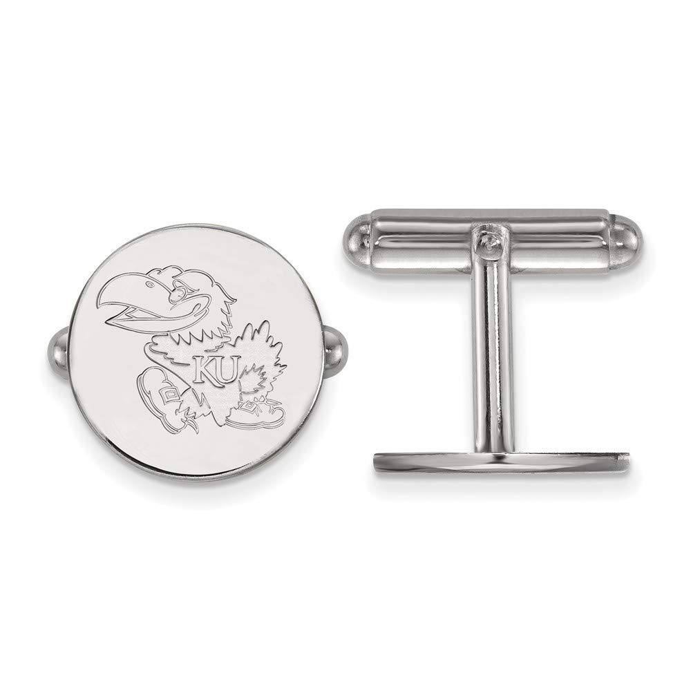 Roy Rose Jewelry Sterling Silver LogoArt University of Kansas Cuff Links