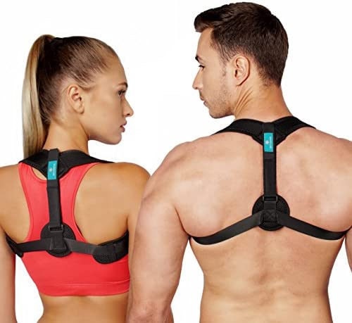 Netynovis Posture Corrector for Women Men and Kids  Adjustable Upper Back Brace for Pain Relief from