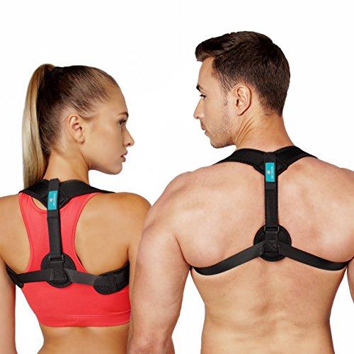 Posture Corrector for Women Men and Kids – Extra Comfortable Adjustable Upper Back Support Brace – Universal Size & Improved Design Back Straightener – Clavicle Support by Netynovis (Image #9)