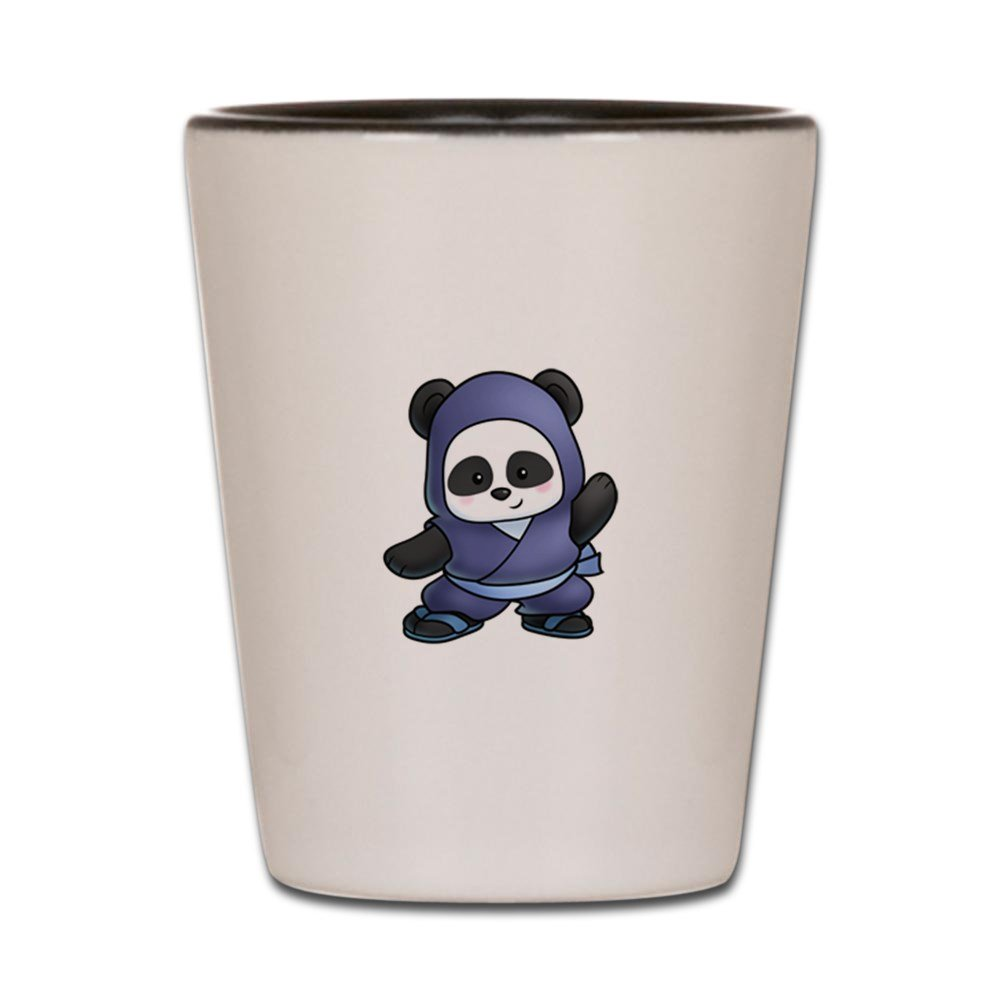 CafePress NINJA PANDA Shot Glass - Standard White/Black by ...