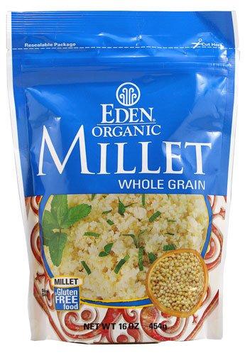 Eden Foods Organic Millet Whole Grain Gluten Free -- 16 oz - 2 pc (Eden Organic Whole Grain)