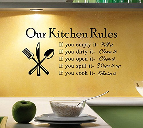 Kitchen Cook Kitchen Waterproof Wall Sticker Decal - 6