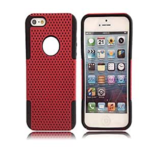 WEV 2-in-1 Simple Grid Case for iPhone 5 , Green