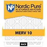 20x25x5 Nordic Pure MERV 10 Air Condition Furnace Filters Qty 2 Honeywell Replacement by Nordic Pure