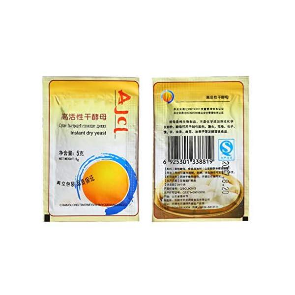 yuanmaoao, Lievito secco attivo, alta tolleranza del glucosio, per la produzione di pane, 10 x 5 g 5 spesavip