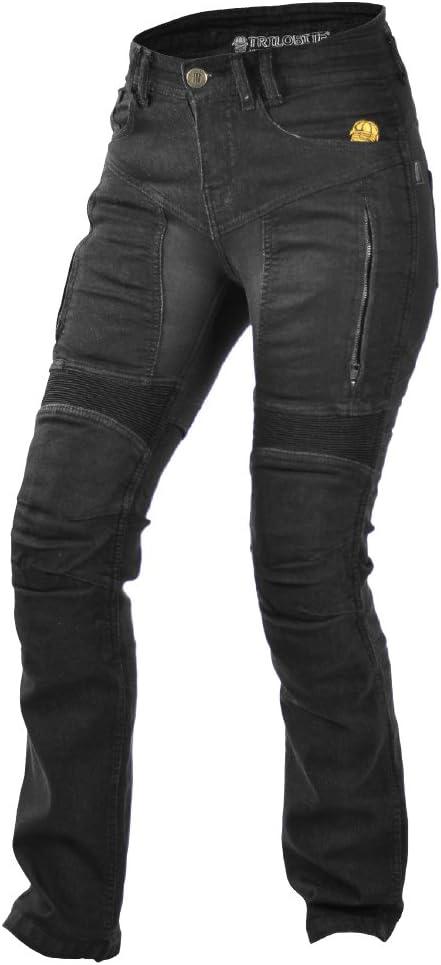 Jean Moto pour Femme Trilobite Noir 8999900044703