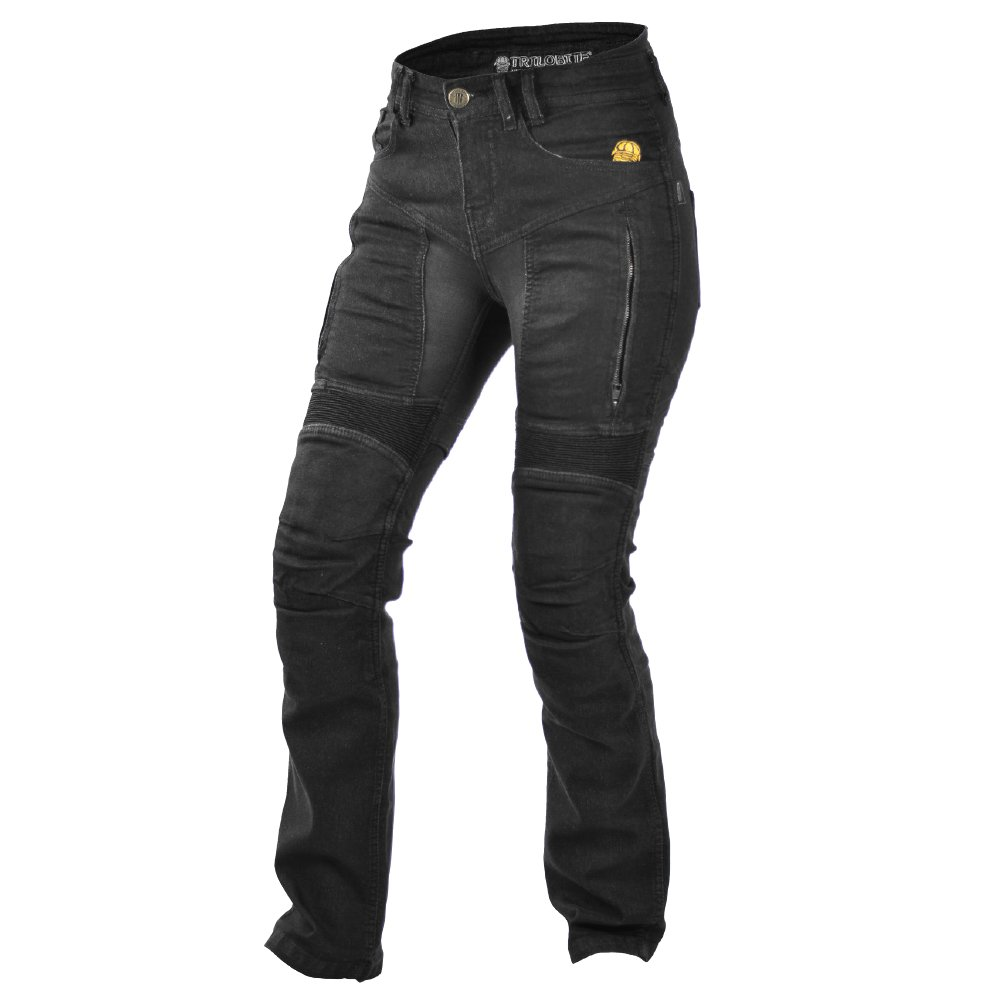 Trilobite Motorcycle Ladies Jeans, Black, Size 28