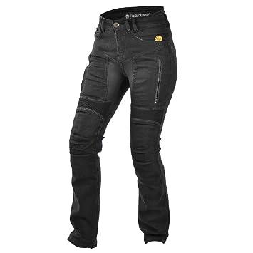 Trilobit Motorrad Damen Jeans,schwarz, 32