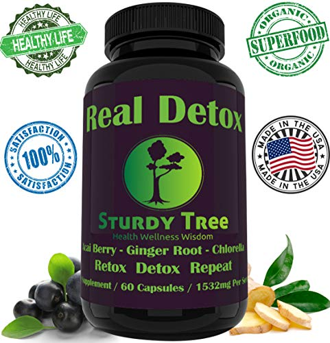 Organic-Keep Cleansed-Premium Detox Formula  Energy Boost-Colon Cleanser-Hangover Helper-Weight Loss-Dietary Supplement-Acai Berry-Ginger Root-Chlorella-Made in USA