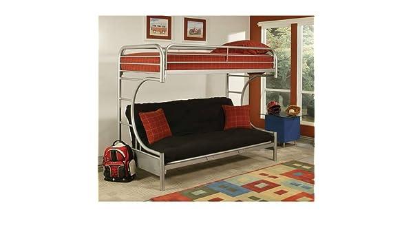 Amazon Com Twin Over Futon Metal Bunk Bed Bedroom Furniture Guard