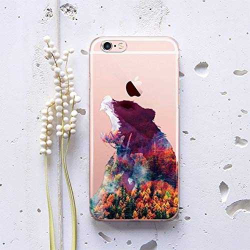 Grizzly Big Papa Mama Bear Forest Phone Case for Apple iPhone XR XS Max X 10 8 7 plus iPhone 6 6S plus iPhone 4 4S iPhone 5 5S 5C SE iPod Touch Protective Silicone Plastic Handmade Custom Case AW1254