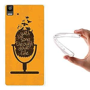 WoowCase - Funda Gel Flexible { bq Aquaris E5 4G } Micrófono Carcasa Case Silicona TPU Suave