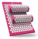 Bed of Nails Original Acupressure Pillow and Mat Bundle, Pink