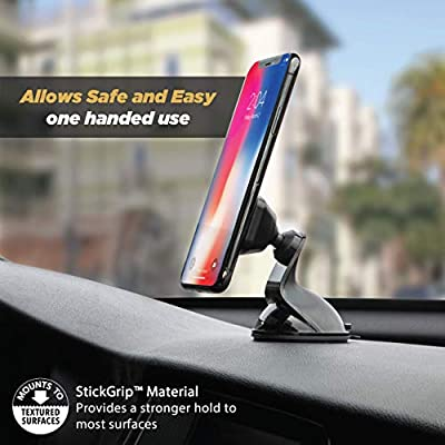 SCOSCHE MMWSM-XCES0 MagicMount Select Magnetic Suction Cup Mount Holder for Mobile Devices, Black